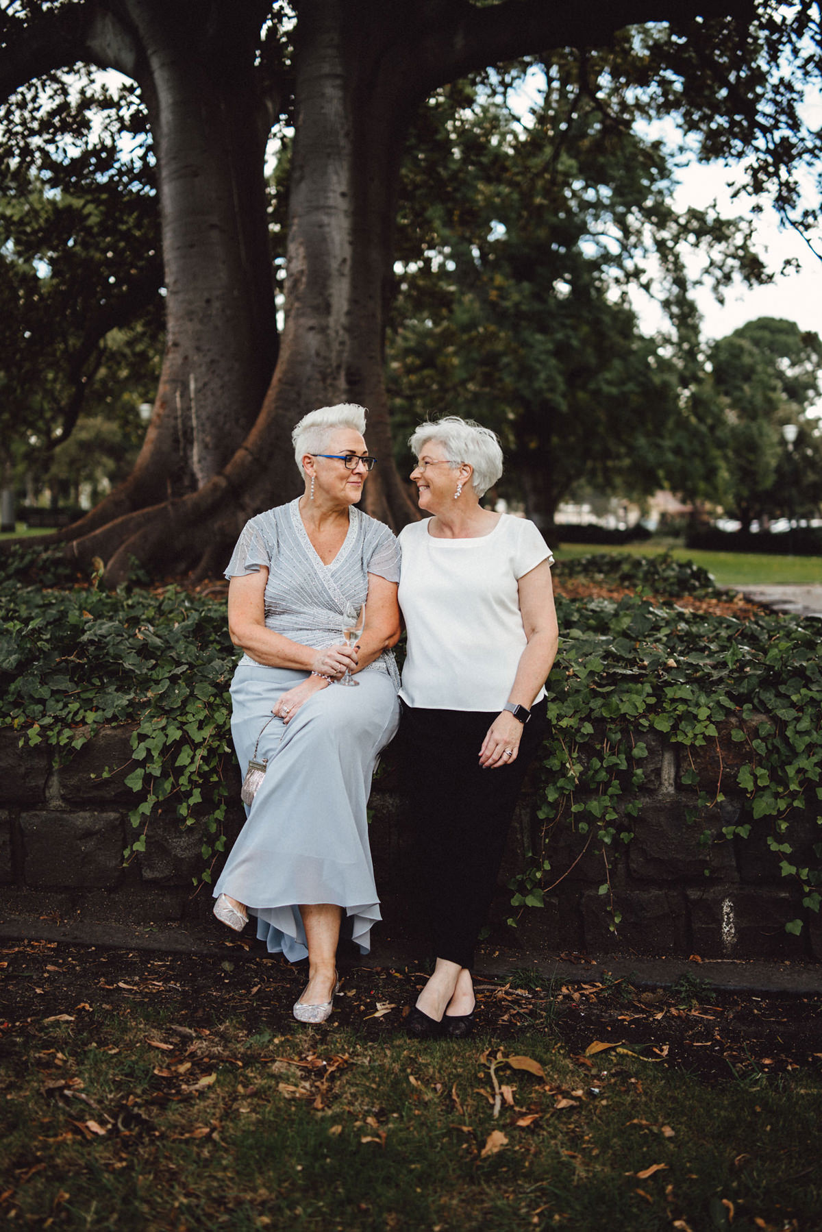 Michelle & Rhonda's Simple & Elegant Melbourne Bowling Club Wedding