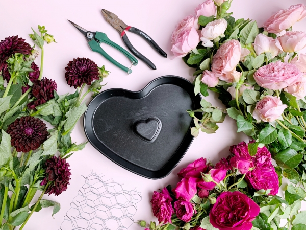 Heart Shaped Floral Centerpiece Tutorial