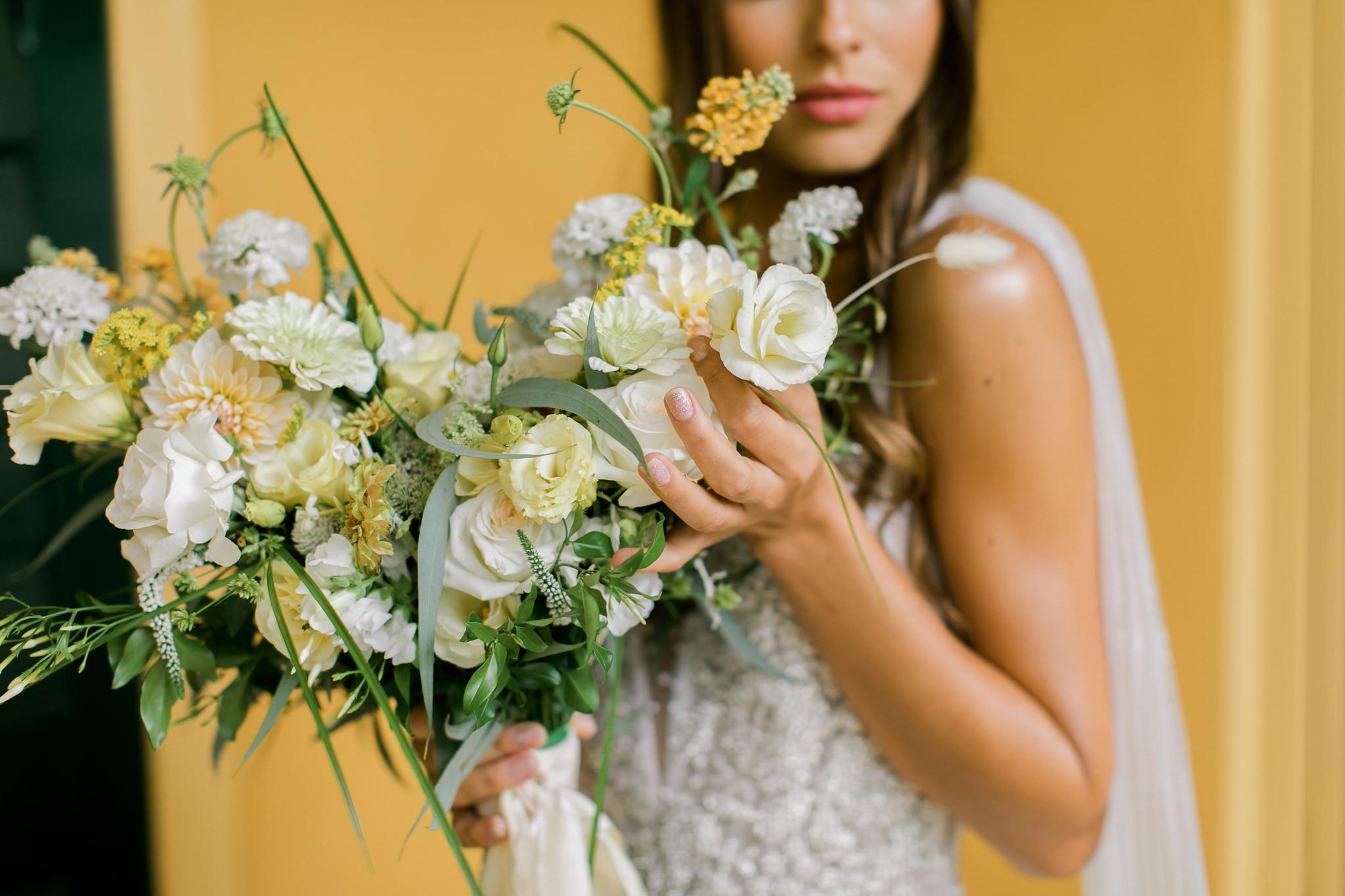 Romantic Summer Lovin' Yellow & Green Wedding Ideas - Polka Dot Wedding